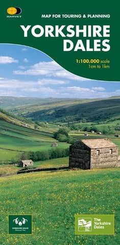Image shows front cover of Yorkshire Dales touring and planning map