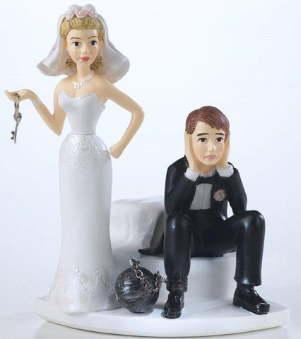 Topper - Wedding  Ball and Chain Figurine