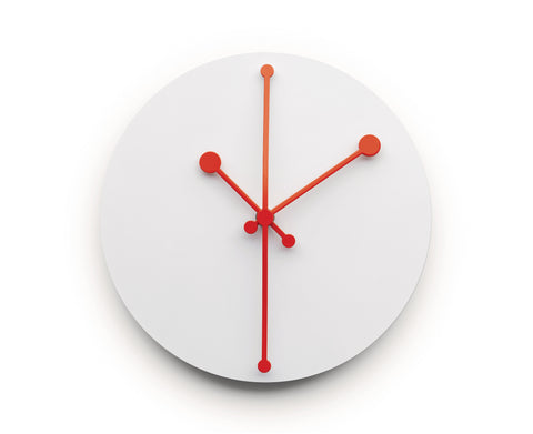 Dotty Clock White