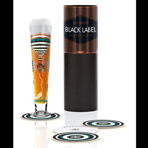 Black Label beer glass P. Mohr 2016 F