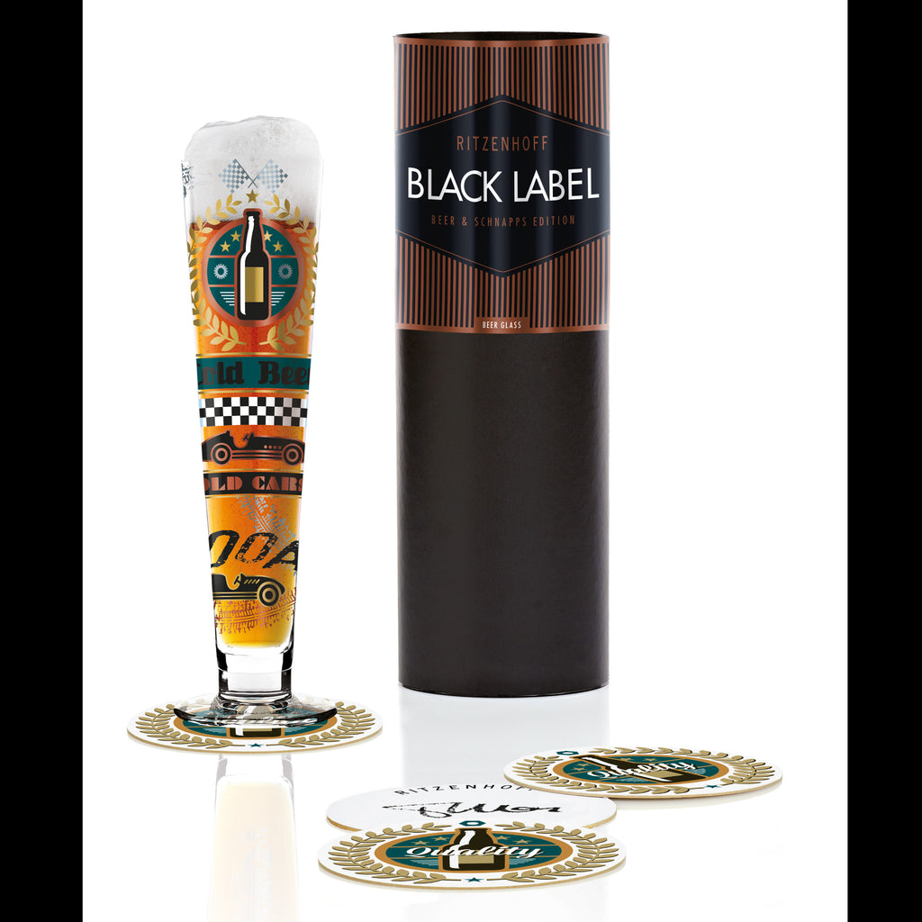 Black Label beer glass T.Marutschke(cold beer)16F