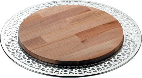 CACTUS CHEESE BOARD WITH WOODEN CHOPPING BOARD 38CM
