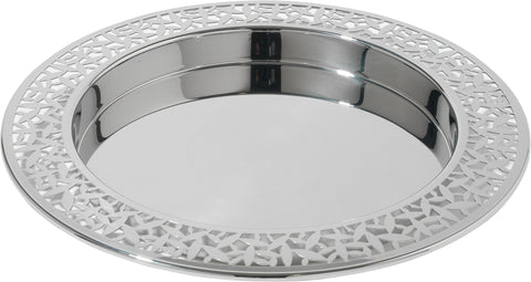 CACTUS ROUND TRAY WITH OPEN WORK EDGE