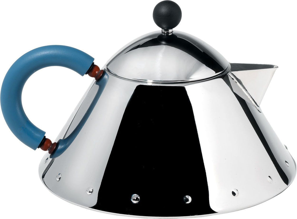GRAVES TEAPOT WITH BLUE HANDLE