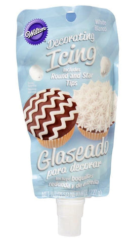 Icing Pouch with Tips - White