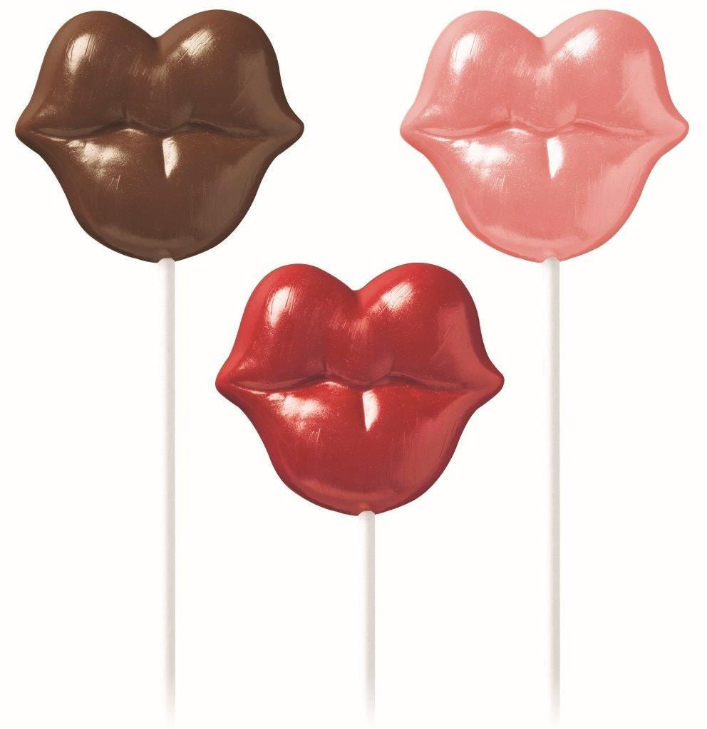 Candy Lollipop Mould - Pucker up Lips