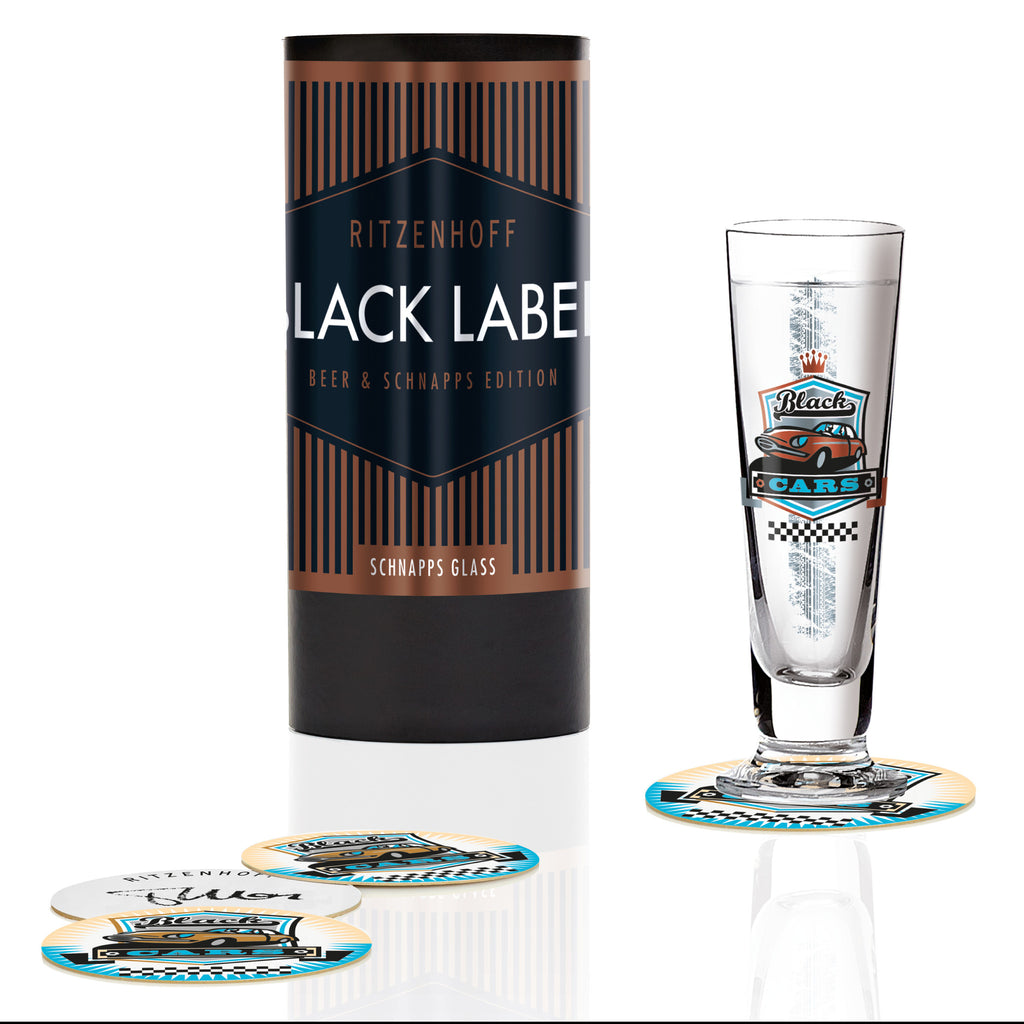 Black Label schnapps glass Marutschke(black cars)S