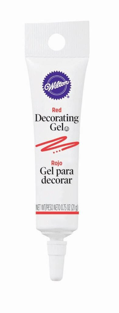 Decorating Gel Tube - Red