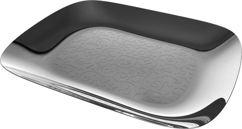 MARCEL WANDERS S/S RECTANGULAR TRAY WITH RELIEF DECORATION