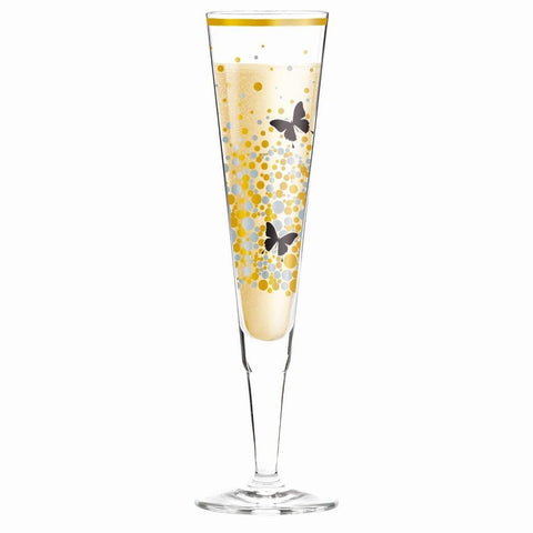 Champagne Glass Butterflies