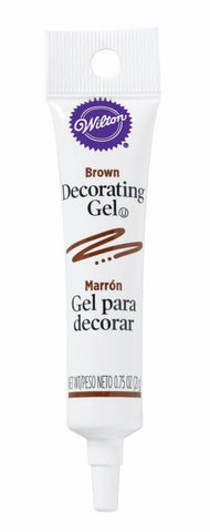 Decorating Gel Tube - Brown