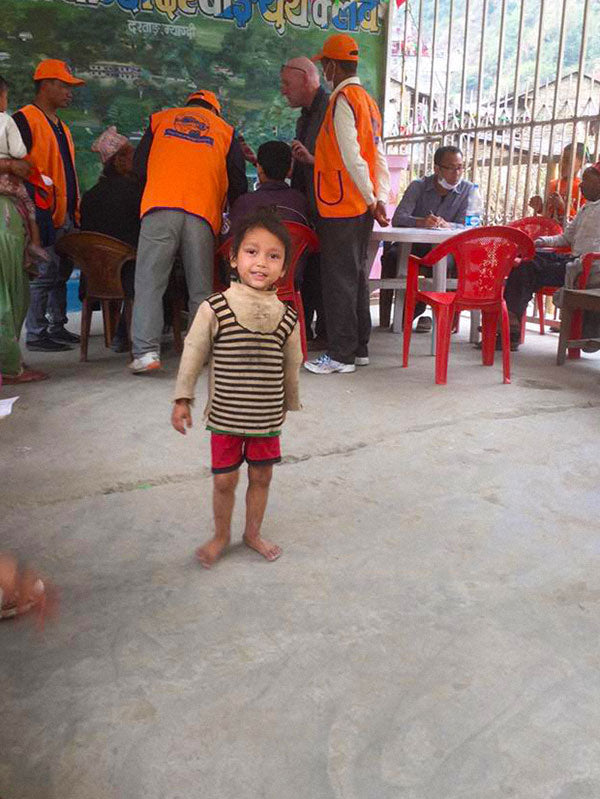 at the Health Camp Nepal