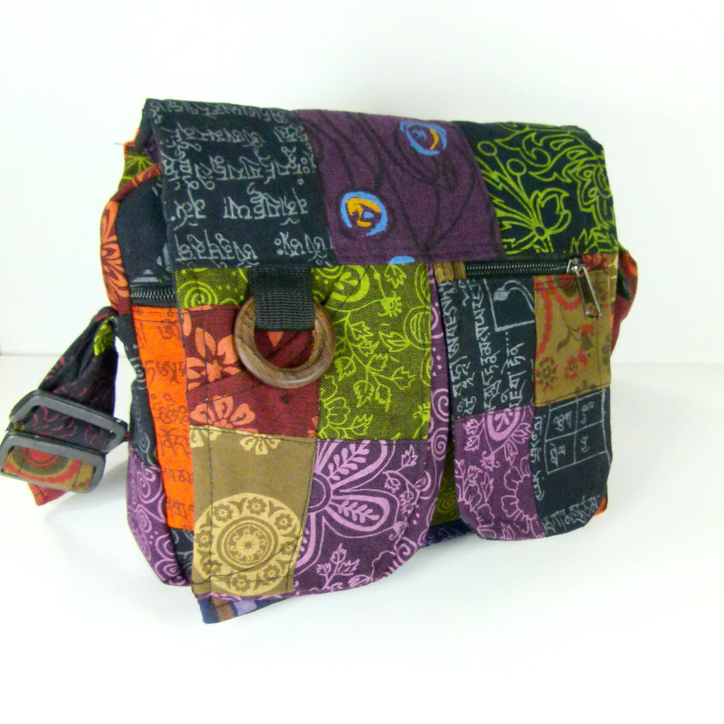 JM Patchwork Shoulder Bag