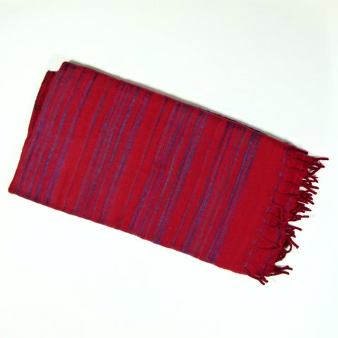 Himalayan Shawl, Kusma Red (pattern may vary)