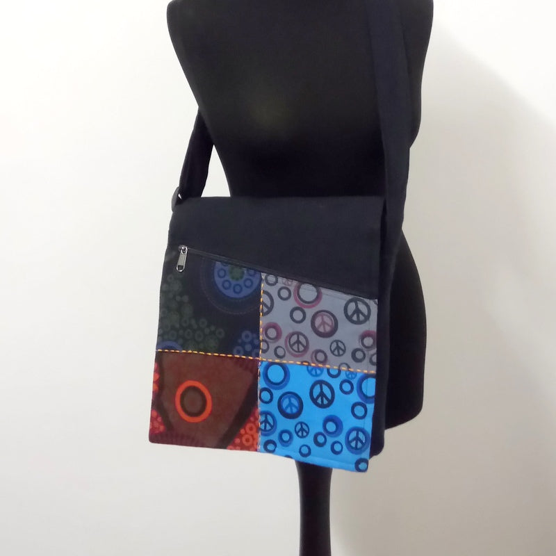 Patchwork Bag (Blue)