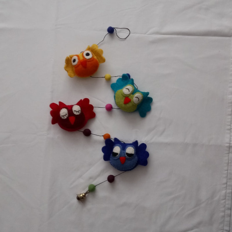 4 friendly Rainbow Owl String