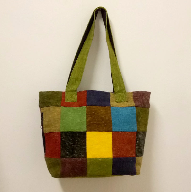 I'M NEW! Rainbow Patchwork Shoulder Bag