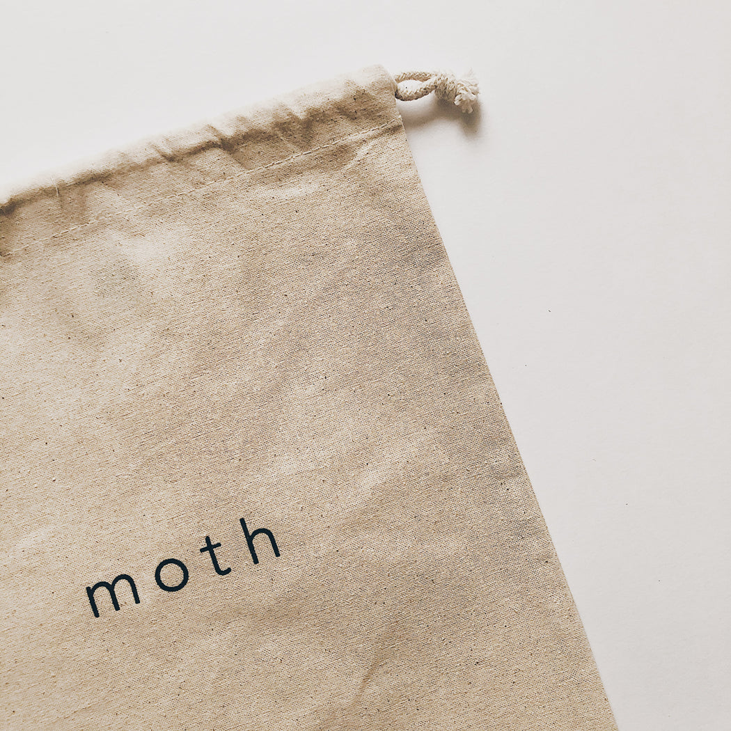 Moth drawstring bag
