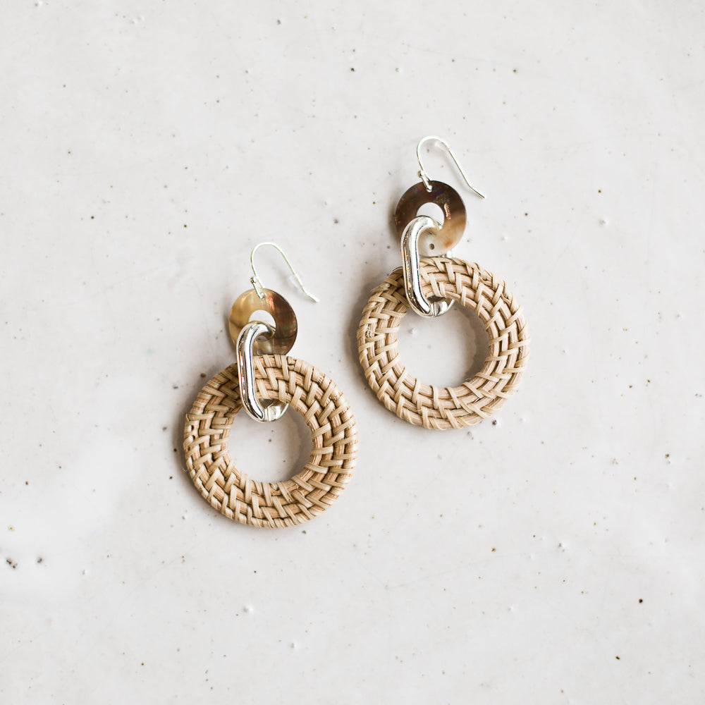 Mineo woven earring | Natural *SALE