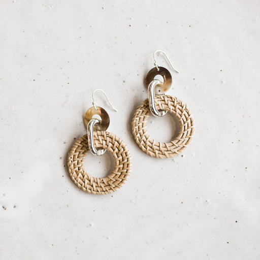 Mineo woven earring | Natural