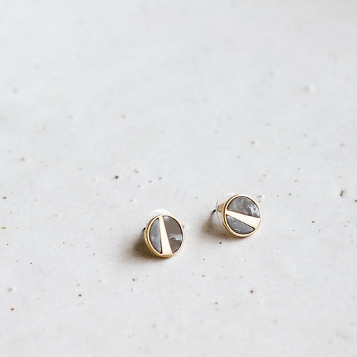 Mea earrings | gold + grey