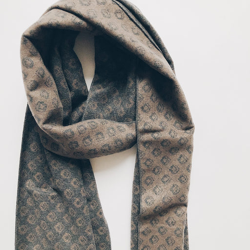 Seppe scarf | Grey + taupe