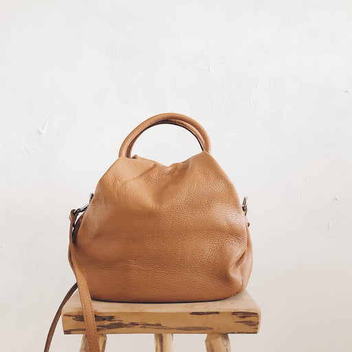 Thea leather bag | Tan