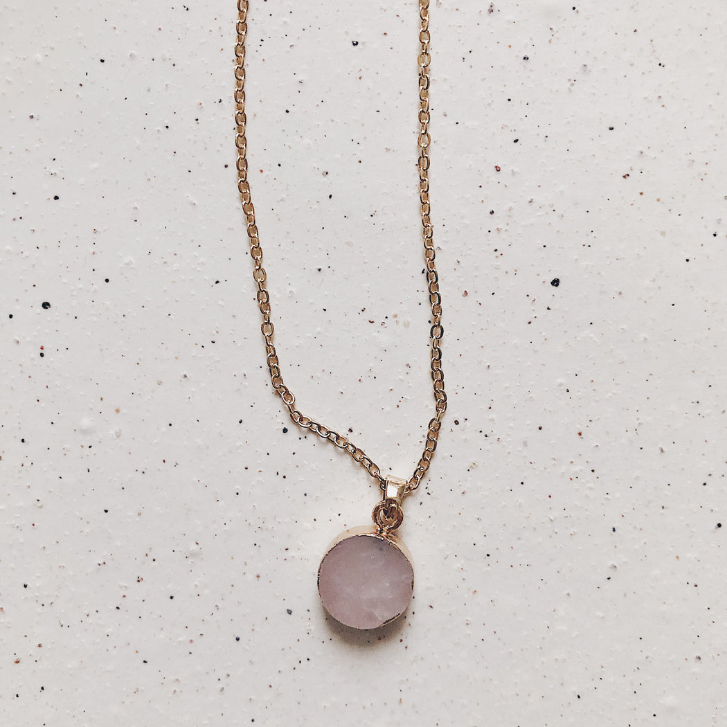Renai necklace | Rose | Gold