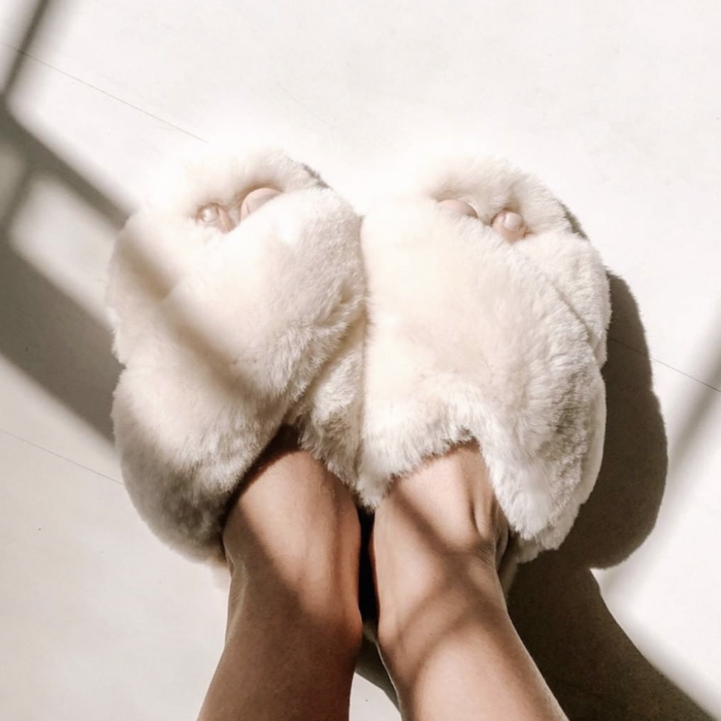 sheepskin slipper | Ivory