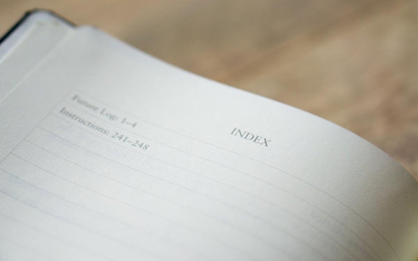 The Index - Bullet Journal