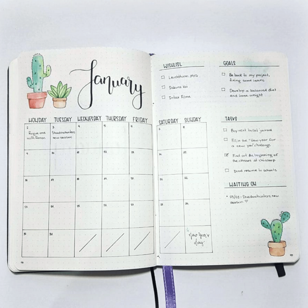 image regarding Bullet Journal Monthly Calendar Printable titled Month-to-month Logs - Bullet Magazine