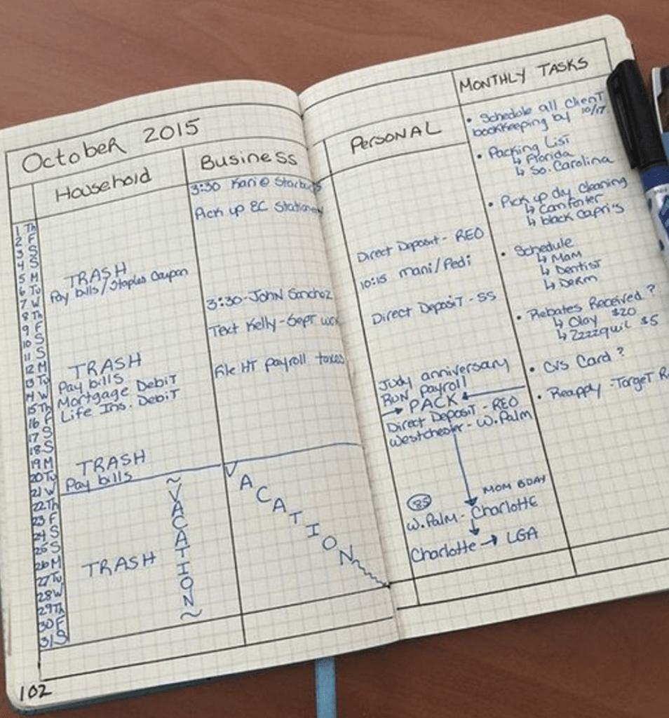 Monthly Logs Bullet Journal