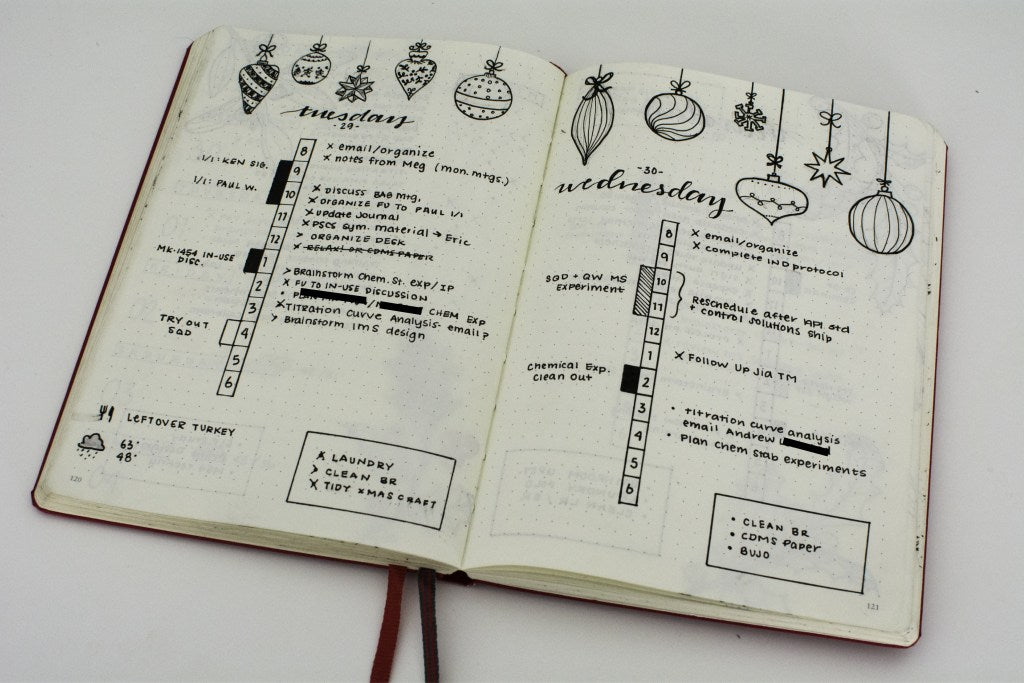 Liz  Daily Log Time Ladder in her Bullet Journal