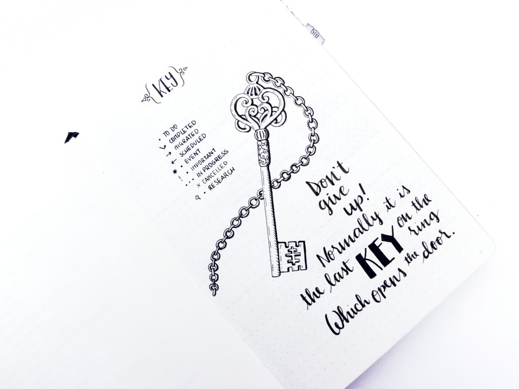 Sery Little Notes Bullet Journal Show & Tell: Key