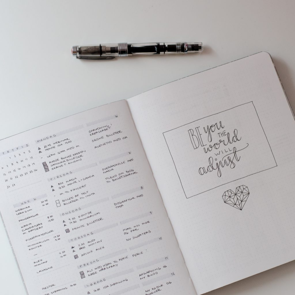 Trine's Rapid-Logging Process in her Bullet Journal Weekly Log
