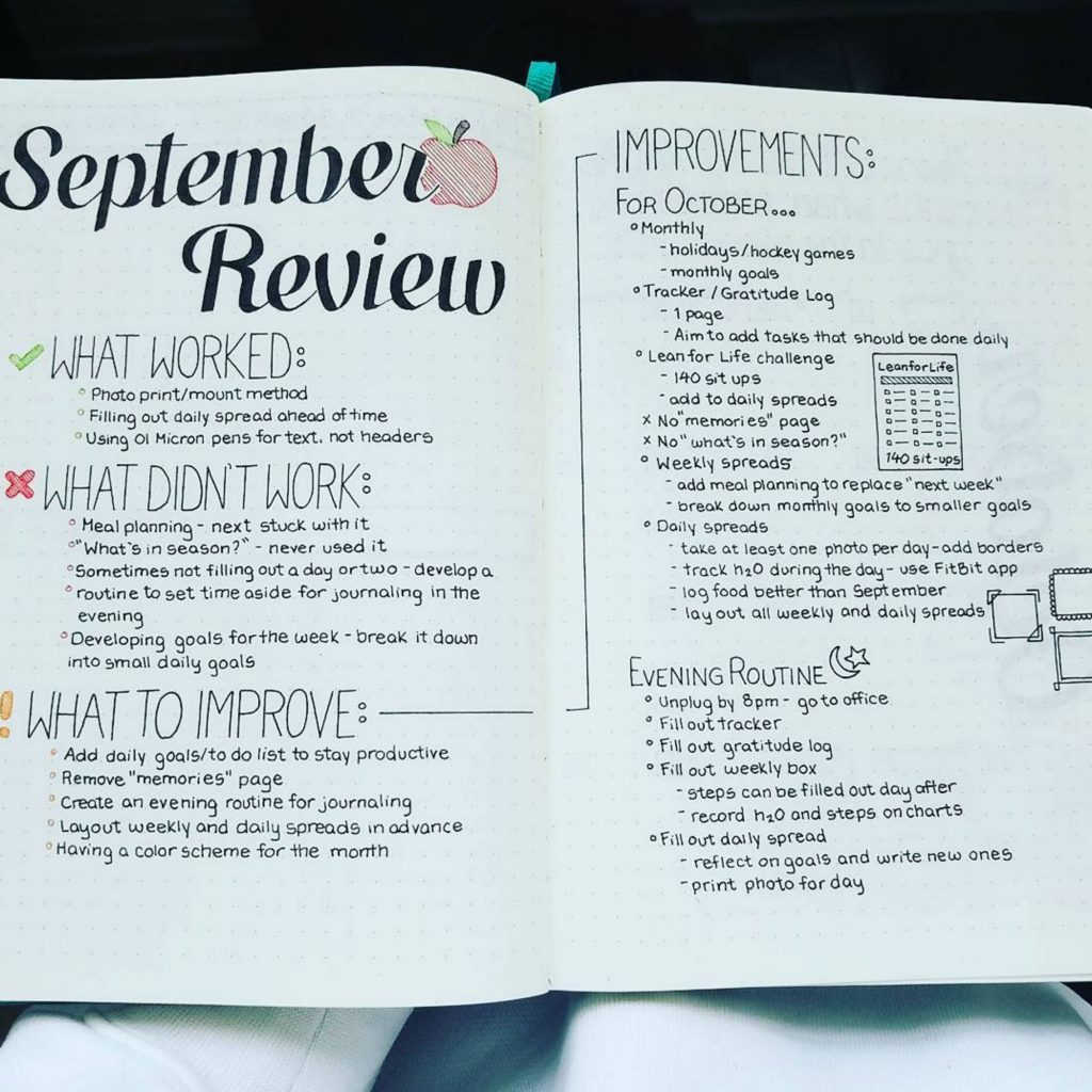 Bullet Journal Reflection by @craftyenginerd