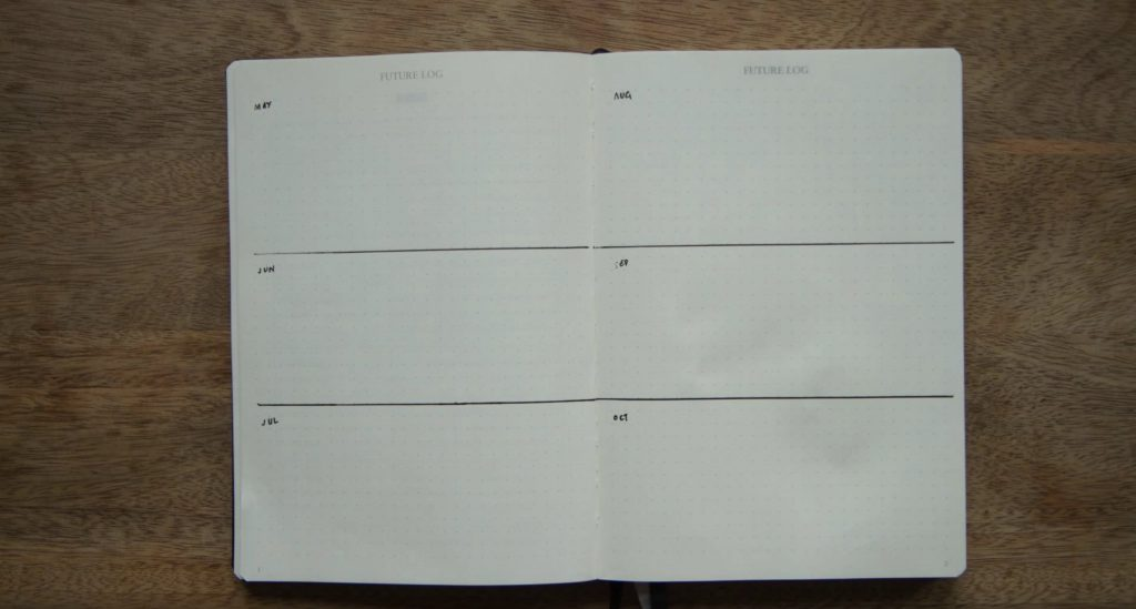 Bullet Journal Future Log by Ryder Carroll, the Inventor of the Bullet Journal