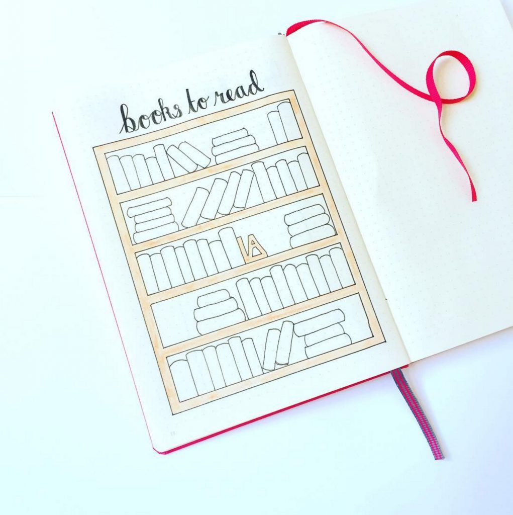 Bullet Journal Bookshelf Books To Read Collection by @that_journal