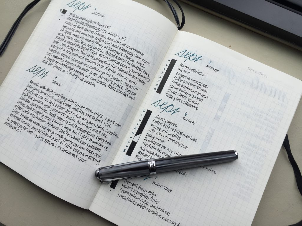 Bullet Journal Dailies by Elena @mightierthan