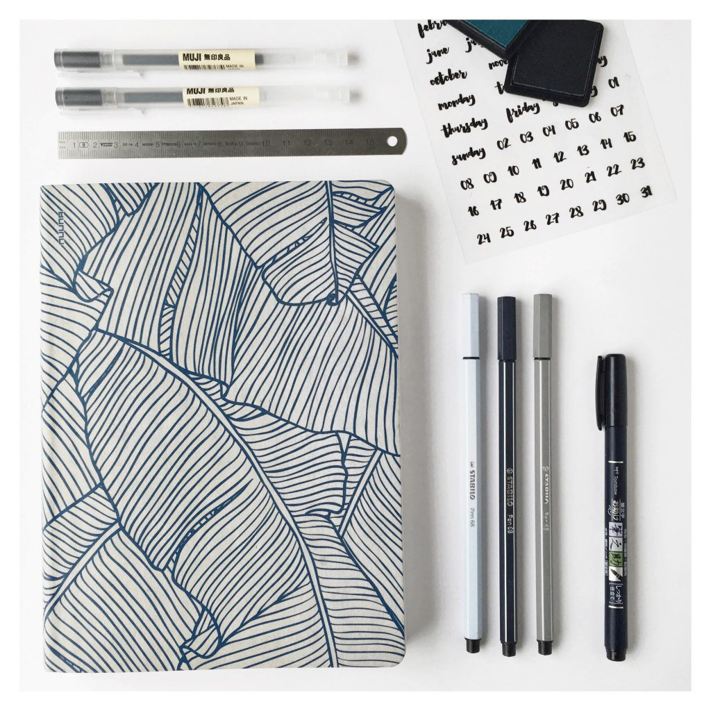 Bullet Journal Tools of the trade by @journalspiration