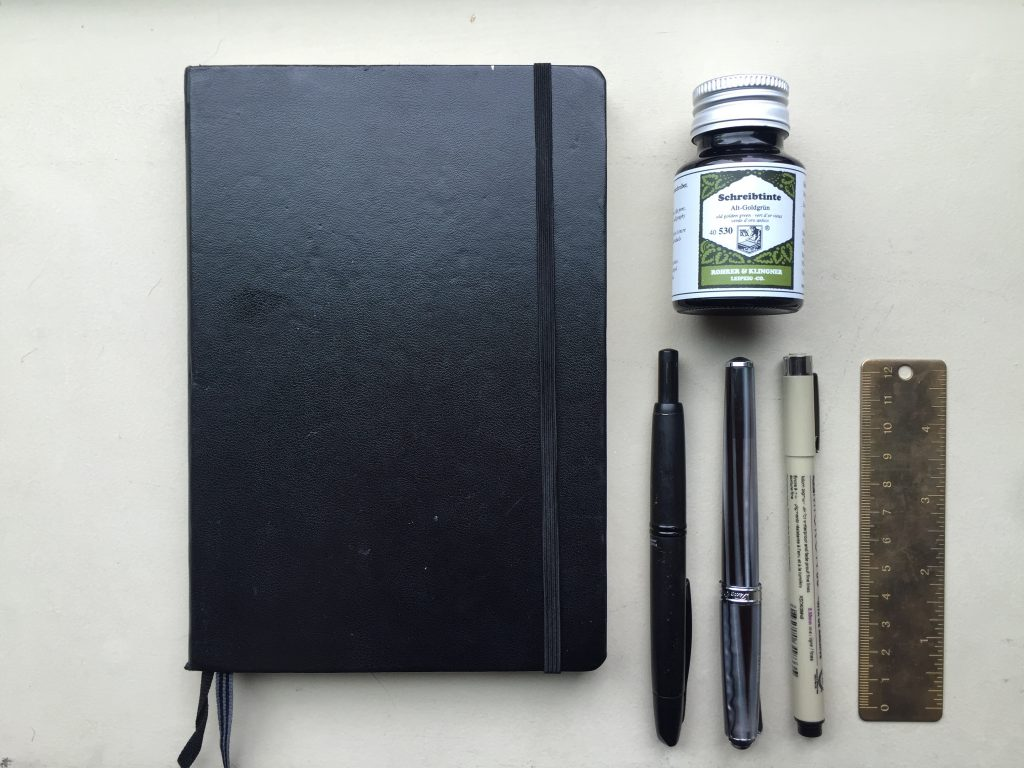 Tools Elena of @mightierthan uses in her Bullet Journal