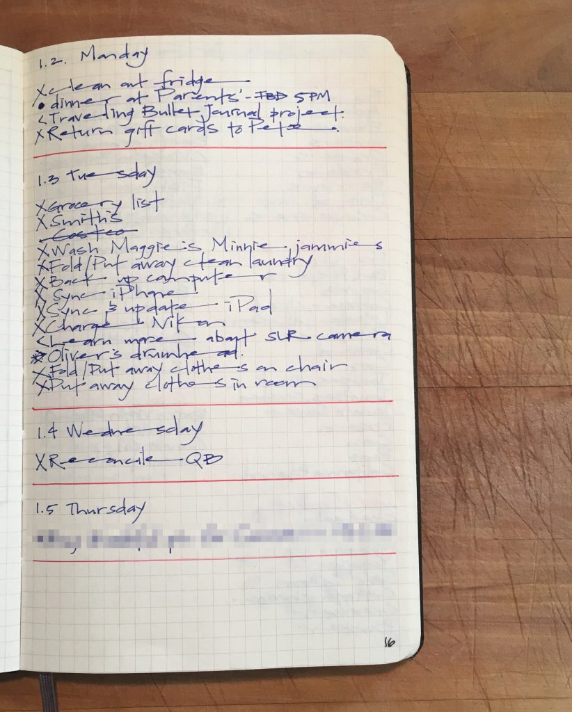 Susiebjournal's Bullet Journal Rapid-Logging