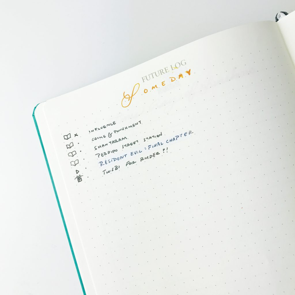 Tiny Ray of Sunshine Bullet Journal Someday Future Log Collection
