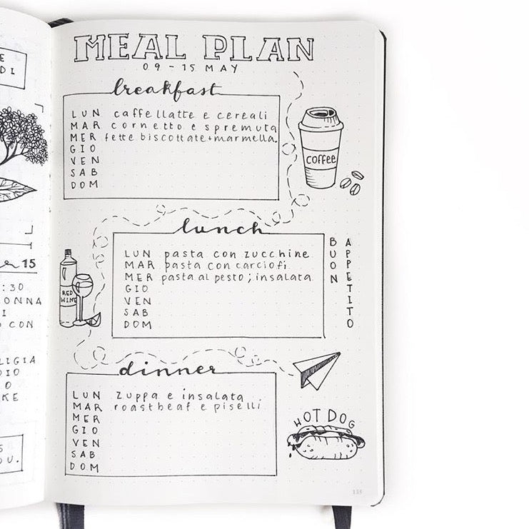 Bullet Journal Meal Plan. Show & Tell with Clarissa @my_journaling_corner