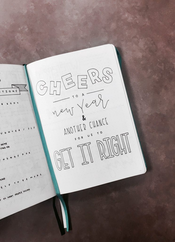 Lettering from The Illustrated Bullet Journal of Sarah from @luckyletters