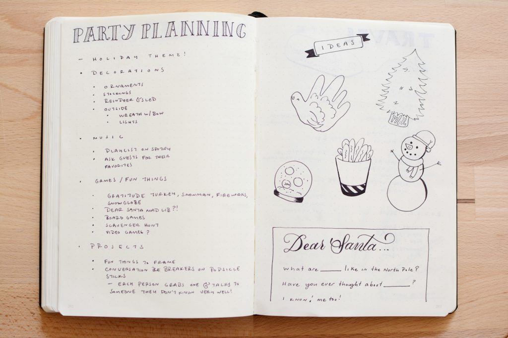 Bullet Journal Holiday Planning