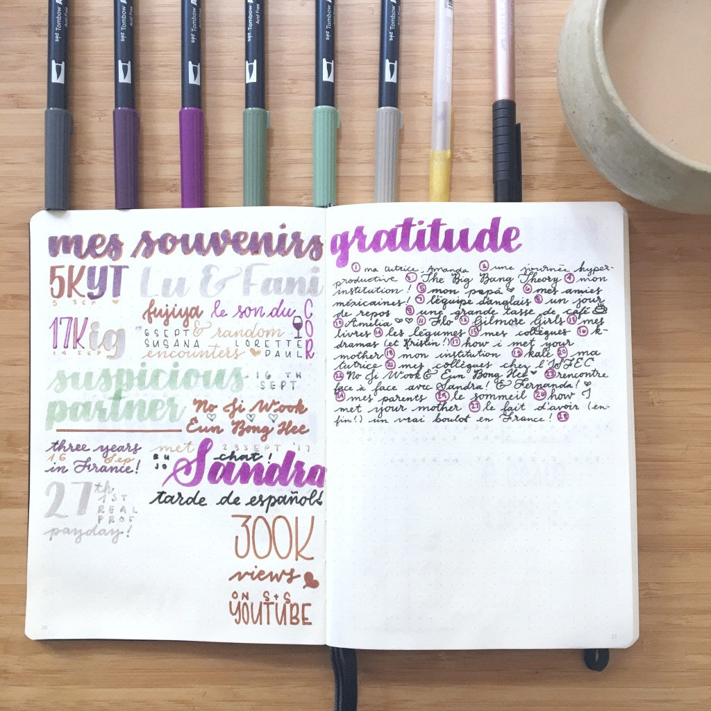 Sunshine and Stationery's Sep Memory and Gratitude Pages