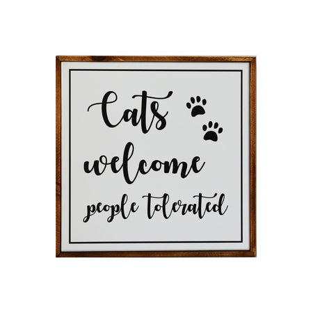 Cats Welcome Sign