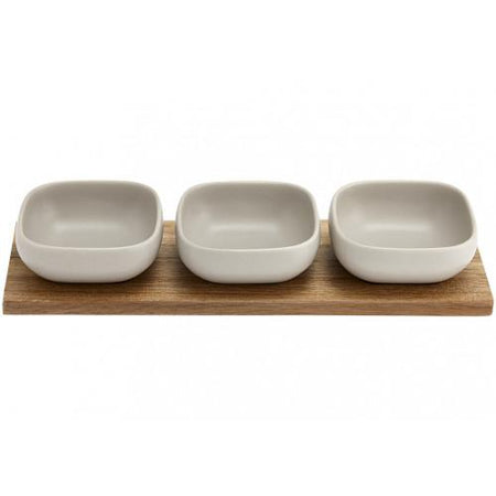 Essentials Stone 4pce Bowl Set