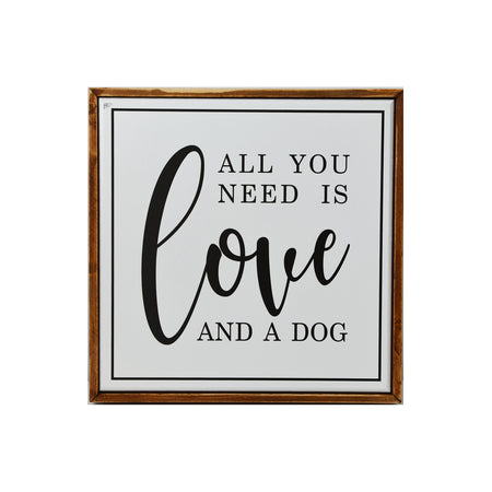 Love & A Dog Sign